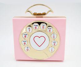 Wholesale Girls Clear Purses - New fashion!Telephone shaped purses handbag shoulder tote bags women girls fashion bags luxury designer bag
