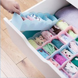 Wholesale Desktop Drawers - Wholesale-2016 New Multi-function Desktop Drawer Storage Box Clothing Organizer Five Grid Storage Box Underwear Socks Bra Ties Organizer