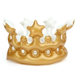Wholesale Imperial For Sale - 2017 Hot Sale Happy Birthday Dancing Gift Novelty Inflatable Crown King Imperial Crown Hats Headwear For Party Decoration Toys