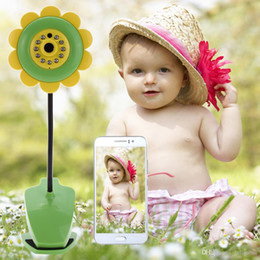 Wholesale Ip Electronics - Sunflower Wireless WiFi Baby Monitor Night Vision Security Camera IOS Android Phone Wireless Monitoring Electronic Babysitter +B