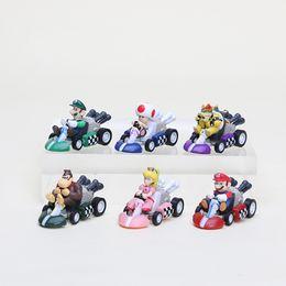 Wholesale Mario Kart 6pcs - Super Mario Bros. Kart PULL BACK Car Figures 6pcs set Free shipping