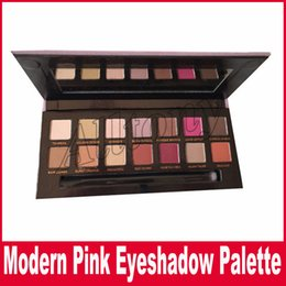 Wholesale Velvet Wear - Modern Eyeshadow Palette Eye Shadow Palette Brush 14 Colors Modern Eye Shadow Palette Pink velvet surface Box Eyeshadow
