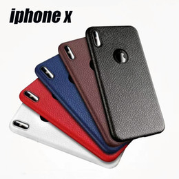 Wholesale Cellphone Leather Cases - Cellphone Case Ultra-thin Litchi Leather Pattern TPU For iphone X iphone 8 8Plus iphone 7 6 6S Plus Cover Ssmsunggalaxy S8 S8 Plus