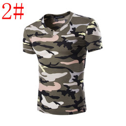 Wholesale Mens Tighter Fitting Shirts - Mens Outdoor Camouflage tight shirt Jogging Compression tshirt Running shirt Clothes slim fit Shirts free shipping