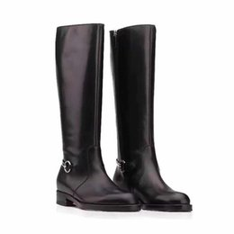 Wholesale Aa D - top quality! u801 40 41 black genuine leather knee high ridding boots short boots luxury designer fashion classic must have
