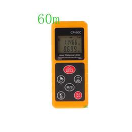 Wholesale Max Volume - 100% Original Digital Laser Distance Meter CP-60C Max 60m Measuring Range 0.05-100m Mini Range Finder Measure Area Volume Tool