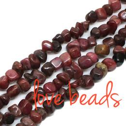 contas de pedra de lava atacado Desconto 5-8mm cascalho Natural solta pérolas Rhodonite Chips Stone Beads Strand 33