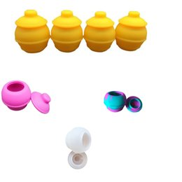 Wholesale Wax Pots - Newest And Unique Wax Non Stick Containers 35 Ml Honey Pot Silicone Oil Container Smoke Accessories