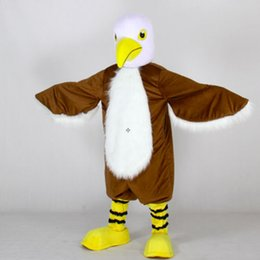 Wholesale Eagle Mascot Costume Cartoon - Animal Long Fur Eagle Mascot Costume Cartoon Costume Eagle Bird Mascotte Mascota Outfit Suit Adult Size fancy dress for festival