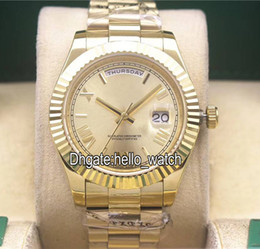Wholesale Sapphire Yellow Gold Cheap - Super Clone High Quality Cheap Day-Date 228238 Gold Dial Asian 2813 Automatic Mens Watch 18K Yellow Gold Mens Watch Sapphire Folding Buckle