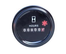 Wholesale Engine Timing - Universal Mechanical hour meter TIME hourmeter 331032001G DC 6-80V for generator diesel gasoline petrol engine DC 12V 24V