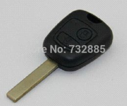 Wholesale Car Remote Key Electronic Chip - Peugeot 307 2 Buttons Remote key 434mhz With Electronic ID46 Chip(With Groove Blade) car key fob remote cover