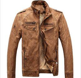 New Monde Herren Slim Waschen PU Lederjacke Motorrad Herren Lederjacken Herren Mantel Oberbekleidung Kleidung plus Größe 3XL von Fabrikanten