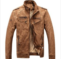 Wholesale Wool Strips - new monde MEN'S Slim washing PU Leather JACKET motorcycle men's Leather Jackets men's Coat Outerwear clothes plus size 3XL