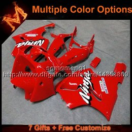 Wholesale 1996 Zx7r Red - 23colors+8Gifts RED motorcycle cowl for Kawasaki ZX-7R 1996-2003 96 97 98 99 00 01 02 03 ZX 7R 1996 2003 ABS Plastic Fairing