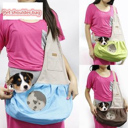 Wholesale Dog Flexible - Canvas Small Dog Go Out Satchel Cat Flexible Backpack Pet Supplies 4 Colors Available Wholesale Best Sellers