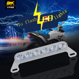 Wholesale Electric Scooters Brakes - 2017Hot style package mail high quality scooters anti collision laser electric lights LED warning lights motorcycle brake light