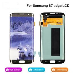 pase de herramienta Rebajas Para Samsung Galaxy S7 Edge G935F G935A G935V 935T Nueva pantalla táctil LCD sin Marco Bisel Reemplazo de la nave en 1 día