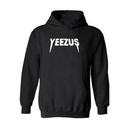 Wholesale Wholesale Pullover For Men - Fashion Brand yeezus Hooded Sweater for Men Women Winter Casual Cotton Sweatshirts Fleece Pullover Long Sleeve Hoodies and Sweatshirts