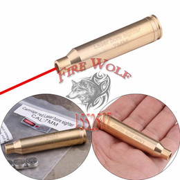 Wholesale Laser 7mm - Free Shipping Cal 7MM Cartridge Red Laser Bore Sighter Boresighter Sighting Sight Boresight Colimador For Hunting Rifle