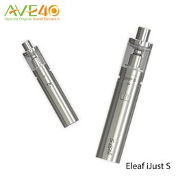 Wholesale Battery Circuits - 100%Original Eleaf iJust S 3000mAh Starter Kit with Direct Output Volatge Dual Circuit Protection iJust S Battery