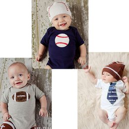 Wholesale Childrens Jumpsuits - Newbron Rompers Baby Boy Girl Short Sleeved One-piece White Ball Printed Cotton Triangle Jumpsuits Without Hat Summer Childrens Clothing