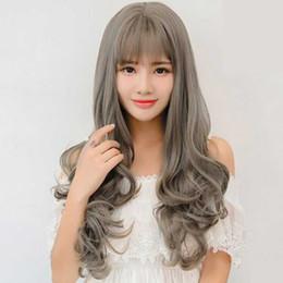 Wholesale Half Head Curly Wigs - Fashion False Wig Female Half Head Set Women Temperament Long Curly Hair Wavy