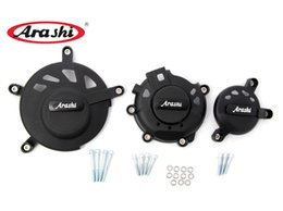 Wholesale Motorcycle Parts For Suzuki - Arashi For SUZUKI GSXR600 750 Engine Cover Kits 2006 2007 2008 2013 2014 2015 Guard Protector Engine Case Cover Motorcycle Part