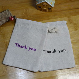Wholesale Wholesale Baby Favor Bags - Thank you Gift Bags Baby Showe Birthday Party Wedding Favor Holder Jewelry Drawstring Pouch