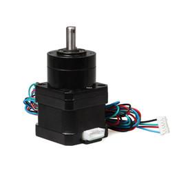 Wholesale Speed Reduction Gear Motor - Freeshipping RepRap 3D Printer Extruder Gear Stepper Motor 42 planetary gear stepper motor Nema17 Speed Reduction Ratio 5.18:1