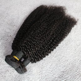 Wholesale Kinky Curl Cambodian Hair - 100% 8A Cambodian Cutcle Hair Extension Natural Black Hair Bundles 3Pcs lot Tangel Free Kinky Curl Unprocessed Human Hair Weave Dyeable