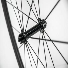 Wholesale full ceramic bearings - OEM 38mm Carbon Road Wheels 23mm wide road bike clincher carbon wheelset surface Powerway R36 Ceramic bearing hub 700C full carbon wheelset
