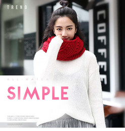 Wholesale Acrylic Circle Scarves - Women Scarf Winter Thick Ribbed Knitted Winter Infinity Circle Loop Scarf Warm Ring Scarves 12colors