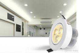Focos de techo pequeños online-Focos LED de luces de techo 3W / 5W. Focos pequeños de aluminio, luces de la pared de la ventana TV luces de pasillo pasillo luces pasillo, 10pcs una bolsa