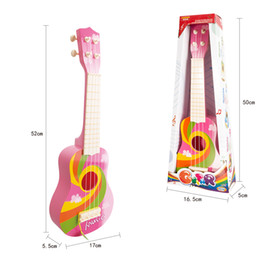 Wholesale Toys Guitars - New toys for children 4 string simulation can play the guitar Early childhood educational children's music toys