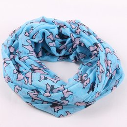 Wholesale Red Loop Scarf - 2016 New fashion Women`s Colorful Cotton Infinity Scarf Circle Scarves Shawl Dog Unique printed popular Loops scarfs Wholesale