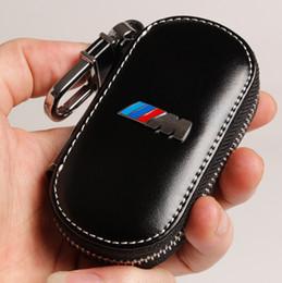 Bmw keys online-Llavero de cuero real M performance M emblema del coche bmw E21 E30 E36 E46 E90 E91 E92 E93 F30 X3 X5 X6 3Series 5Series