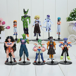 Wholesale figure japan - 10pcs set Japan Anime Akira Toriyama Dragon ball Z Bulma Cell Goku Freeza PVC Figures Toys