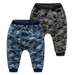 Wholesale Harem Pants For Children - Boys clothing Jogger Camo Pant 2017 Fall Winter Casual Pencil pants Harem Trousers for Children 100% cotton Wholesale