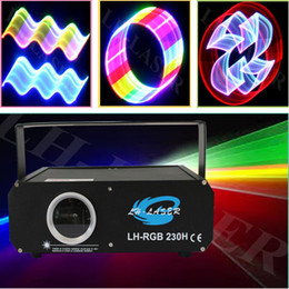 Wholesale Lasers 1w - 1W RGB DMX Full Color ILDA Animation Laser Light DJ Stage Effect 1 Watt 1000mW From lh-laser
