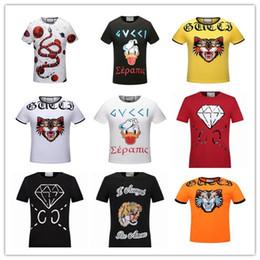 Wholesale Basic Mens Fashion - new 2017 summer men t shirt brands casual cotton mens T'shirt red basic breathable print younger tshirt fashion men clothing