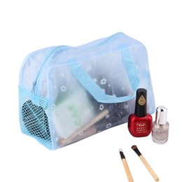 2019 transparente make-up-tasche organizer 450pcs Heißer Portable Blumendruck Transparent Wasserdicht Make-up Kosmetiktasche Kulturbeutel Badetasche Organizer Halter ZA0758 rabatt transparente make-up-tasche organizer