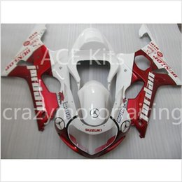 Wholesale Gsxr K2 - 3 Gifts New 100% Fit Aftermarket Fairing kit for SUZUKI GSXR1000 GSX-R1000 GSXR 1000 K2 00 01 02 2000 2001 2002 Fairings White Red Z3