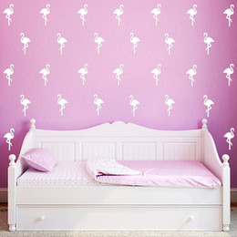 Wholesale Free People Decor - 300PCS LOT Little Flamingo Wall Sticker Wall Decal Removable Child Room Decoration Art Wall Decors Free Shipping