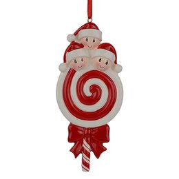 Wholesale Resin Craft Souvenir - Maxora Lollipop Family of 3 Baby Resin Glossy Christmas Tree Ornaments As Craft Souvenir For Personalized Gifts Home Party Decoration