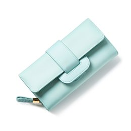 Wholesale Coin Change - 2017 Women Leather Hasp Wallet Fashion Portable Multifunction Long Change Purse Hot Female Coin Zipper Tri-Folds Clutch For Girl