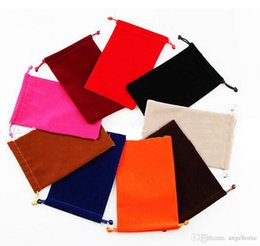 Wholesale Velvet Bags Multi Color - wholesale Multi-color 18*23cm 18*25cm velvet jewelry pouches for necklace bracelet earring gift package Velvet Gift Bags candy bag