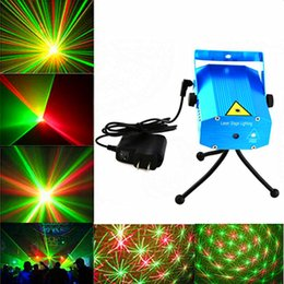 Wholesale Square Led Mini - Voice-activated & Auto Model 150mW Red and Green Mini Laser Stage Light Stars LED Effects Lighting for Bar Club Party Room Joyful Lights