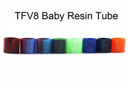 Tanque vs goteo online-Tubo de expansión epóxica de reemplazo de vidrio de resina recta tapas tubos para TFV8 bebé vs TFV8 X-Baby TFV8 punta de goteo de tanque grande bebé Tfv12