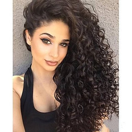 Wholesale Natural Rose Hair - Z&F Afro Curly Wig Black Curly Wigs 20Inch Long Rose Hair Net Full Syhtnetic Fiber Christmas Fashion Gift Normal Wave